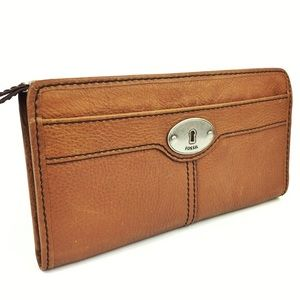 Fossil Tan Leather Wallet